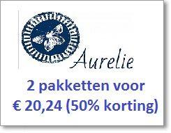 50% korting op 2 pakketen Aurelie papier (AUKC1001+AUKC1006) Normale prijs € 40,48. Nu voor € 20.24