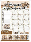 Hobbydots Kalender met stickerset