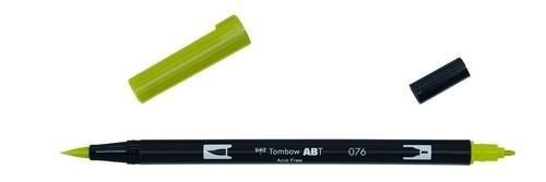 Tombow ABT dubbele brushpen green ochre ABT-076 (380020/0076)