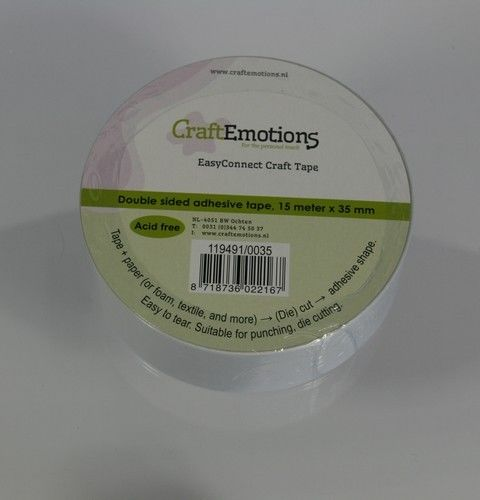 CraftEmotions EasyConnect (dubbelzijdig klevend) Craft tape 15m x 35mm (119491/0035