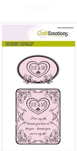 CraftEmotions clearstamps A6 - You & Me Botanical (130501/1010*)