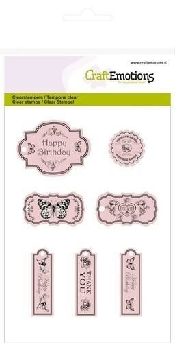 CraftEmotions clearstamps A6 - labels Botanical (130501/1018*)