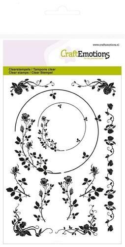 CraftEmotions clearstamps A6 - ornamenten randen roos (130501/1274)*