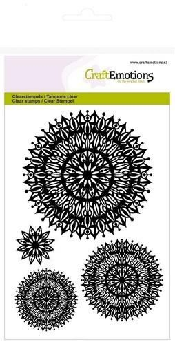 CraftEmotions clearstamps A6 - mandala bloem (130501/1276)