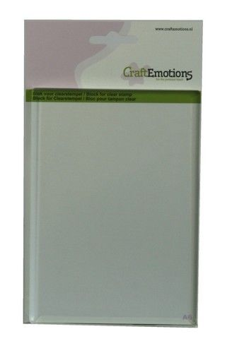 CraftEmotions blok voor clearstempel A6 105x148mm - 8mm (130501/1910)