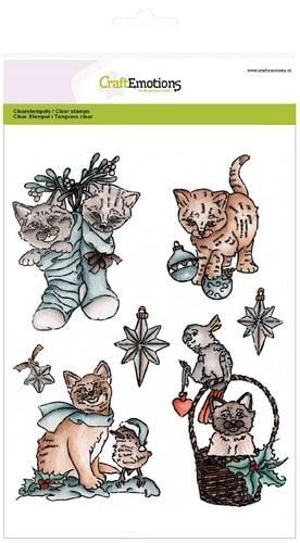 CraftEmotions clearstamps A5 - Christmas pets 2 (130501/3102)