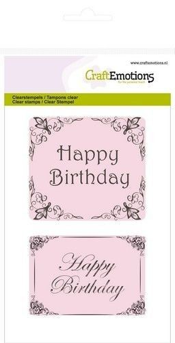 CraftEmotions clearstamps A6 - Happy Birthday Botanical (130501/1012)