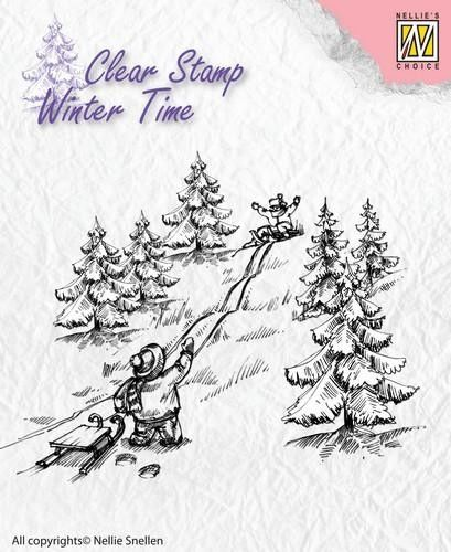 Nellies Choice - Clearstamp - Winter Time  waterval (WT004)