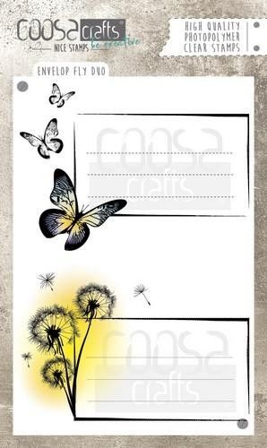 COOSA Crafts - clearstamps A6 - Envelope Fly duo A6 (ENG) (COC-034) (AFGEPRIJSD)
