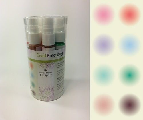 CraftEmotions Ink Spray Set 8st 30ml - Opaque extension (133001/0002)