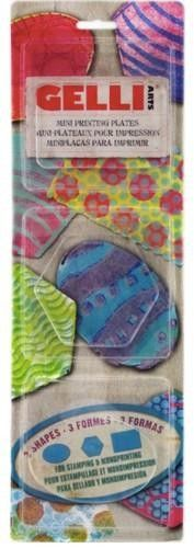 Gelli Arts - Gel Printing Plate set ovaal,hexagon,Rectangle GELOHR (136003/0012)