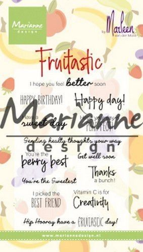 Marianne D Clear Stamps Marleen's Fruitastic CS1031 82x118mm (07-19)*