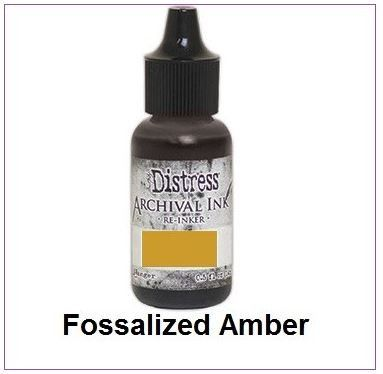 Ranger Distress Archival Reinkers - Fossilized Amber - Tim Holtz (ARD66354)