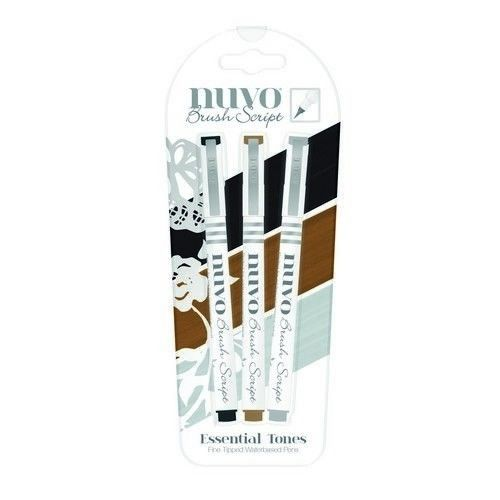 Nuvo brush script pens - essential tones (110N)