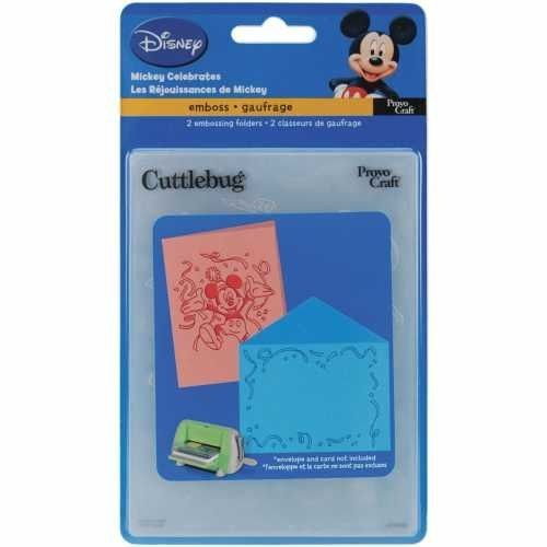 Cuttlebug, Embossing duostencil, Mickey celebrates