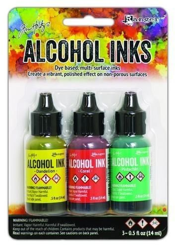Ranger Alcohol Ink Kits Key West 3x15 ml TAK58748 Tim Holz
