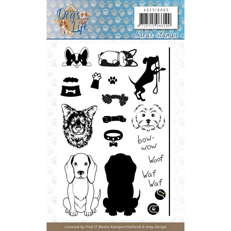 Clear Stamps - Amy Design - Dog's Life (ADCS10063)