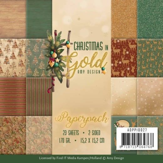 Paperpack - Amy Design - Christmas in Gold