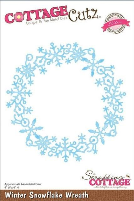 Cottage Cutz - Winter Snowflake Wreath - CCE-047