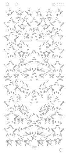 Stars various sizes - Zilver