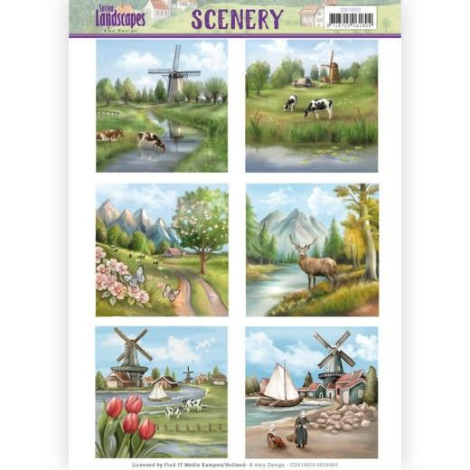 Die Cut Topper - Scenery Amy Design - Spring Landscapes 1