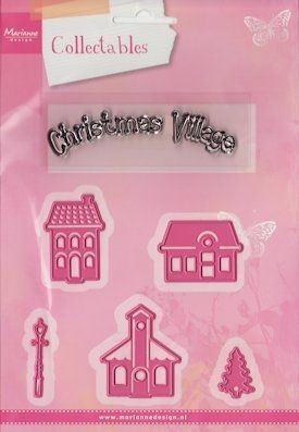 Marianne Design -  Collectables - Collectables Christmas mini village (COL1329) (25% KORTING)