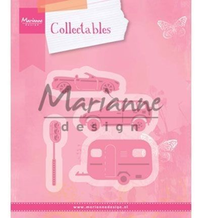 Marianne Design -  Collectables - Village decoration set cars (COL1435) (25% KORTING)