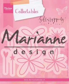 Marianne Design -  Collectables - Giftwrapping - Karin`s pins & bows (COL1441) (25% KORTING)
