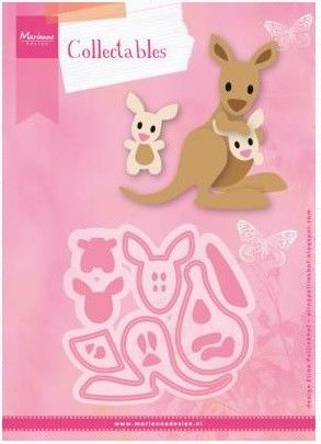 Marianne Design -  Collectables - Eline`s kangaroo & baby (COL1446) (20% KORTING)*