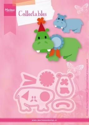Marianne Design -  Collectables - Eline`s happy hippo 98x67 mm  (COL1450) (20% KORTING)