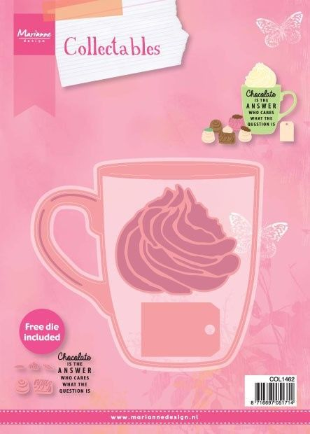Marianne D Collectable mok Hot chocolate (COL 1366 for free) 107 x 98 mm - 61 x 54 mm (COL1462) (20% KORTING)