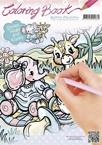 Coloring Book - Yvonne Creations - Smiles, Hugs and Kisses