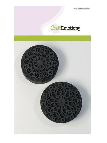 CraftEmotions Foam stamps mandala 2x 55mm - 50mm (130600/0105)
