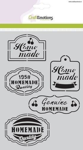CraftEmotions Mask stencil Fifties Kitchen labels A5 (185070/1020)*
