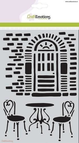CraftEmotions Mask stencil Romantic Provence - muur+bistro A5 (185070/1092)