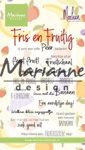 Marianne D Clear Stamps Marleen's Fris & Fruitig (NL) CS1030 2x118mm (07-19)