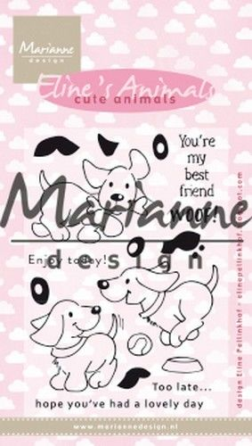 Marianne D Clear Stamp Eline`s cute animals - puppies EC0177 (04-19)
