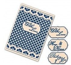 Tattered Lace Interchangeable Embossing Folder Lacy Grid - Embossing (EF013)
