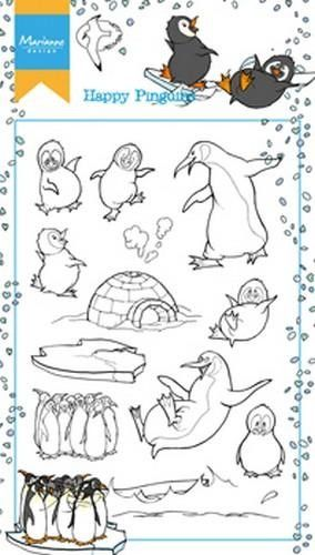 Clearstamp - Marianne D - Hetty`s Happy Pinguins (HT1628)*