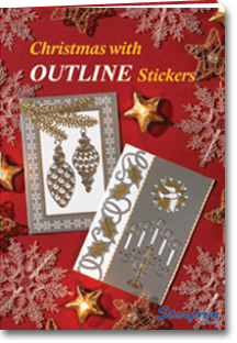 Boekje: Christmas with Outline Stickers