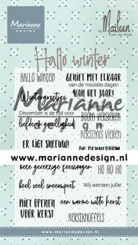 Marianne D Clear Stamps Marleen's Hallo winter (NL) CS1036 (09-19)*