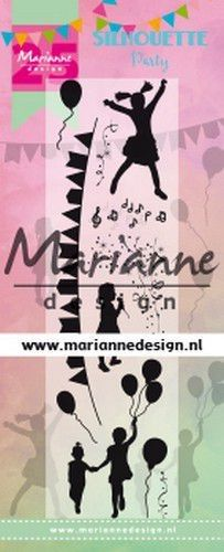 Marianne D Clear Stamps Silhouette Party - 25e verjaardag CS1038 (09-19)
