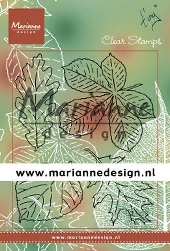 Marianne D Clear Stamps Tiny's bladeren set TC0876 133x51,5mm (09-19)*