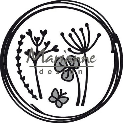 Marianne D Craftable Doodle cirkel CR1468 85.5x85.5 mm (05-19)