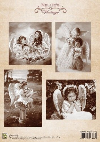 Knipvel - Nellie Snellen - Vintage Angel praying