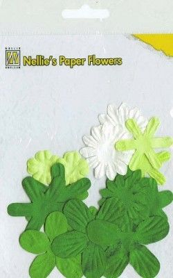 Nellie's Paper Flowers - Christmas green