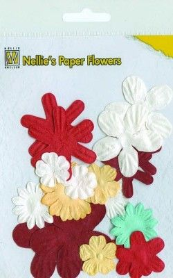 Nellie's Paper Flowers - Christmas red