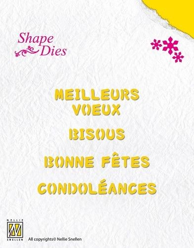 Shape Dies - French texts-1 (SD029)