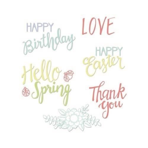 Sizzix Clear Stamps - Spring Phrases - Lynda Kanase (663587)*