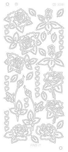 Roses and hearts - Zilver